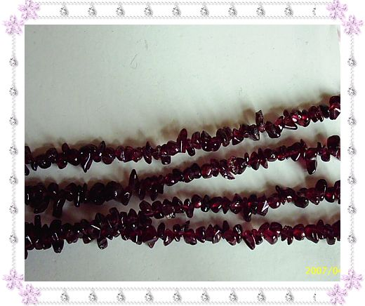 天然水晶石榴石半成品(长度约2尺5寸)22.00元
