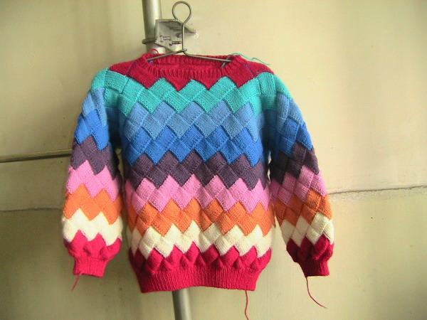 10岁女孩儿毛衣 适合女孩儿童手编毛衣