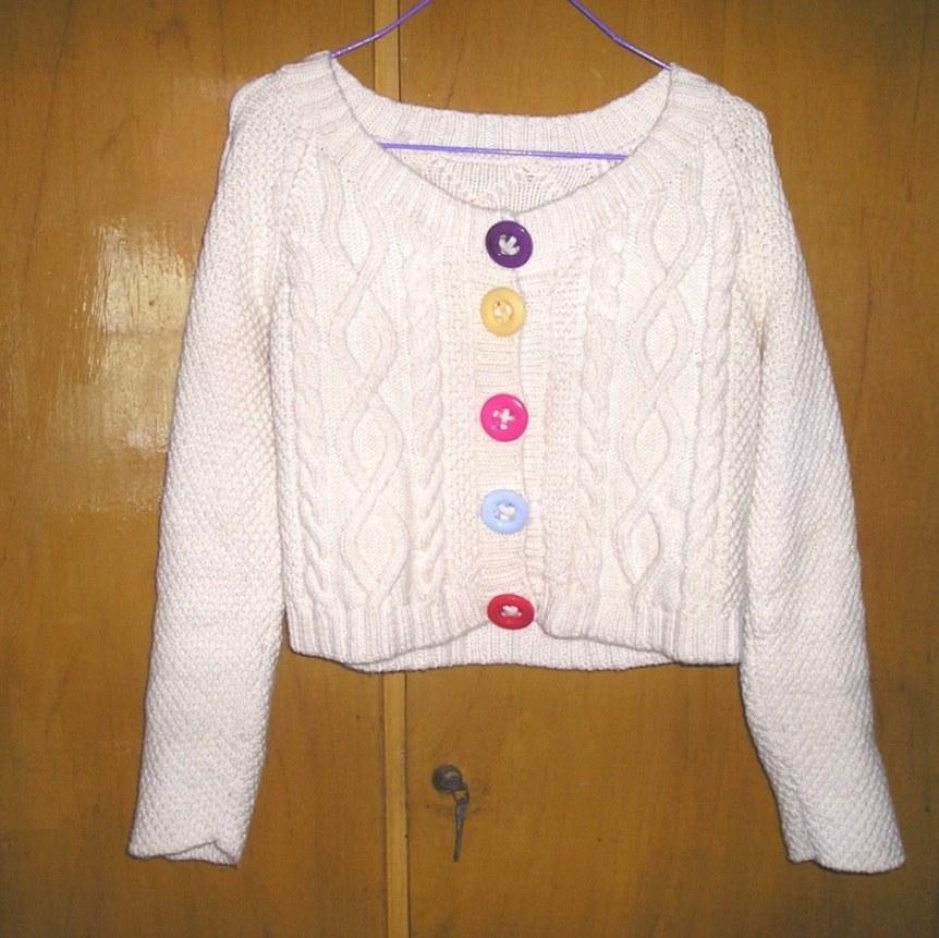 今年3月花了3个星期织出来的毛衣,短装