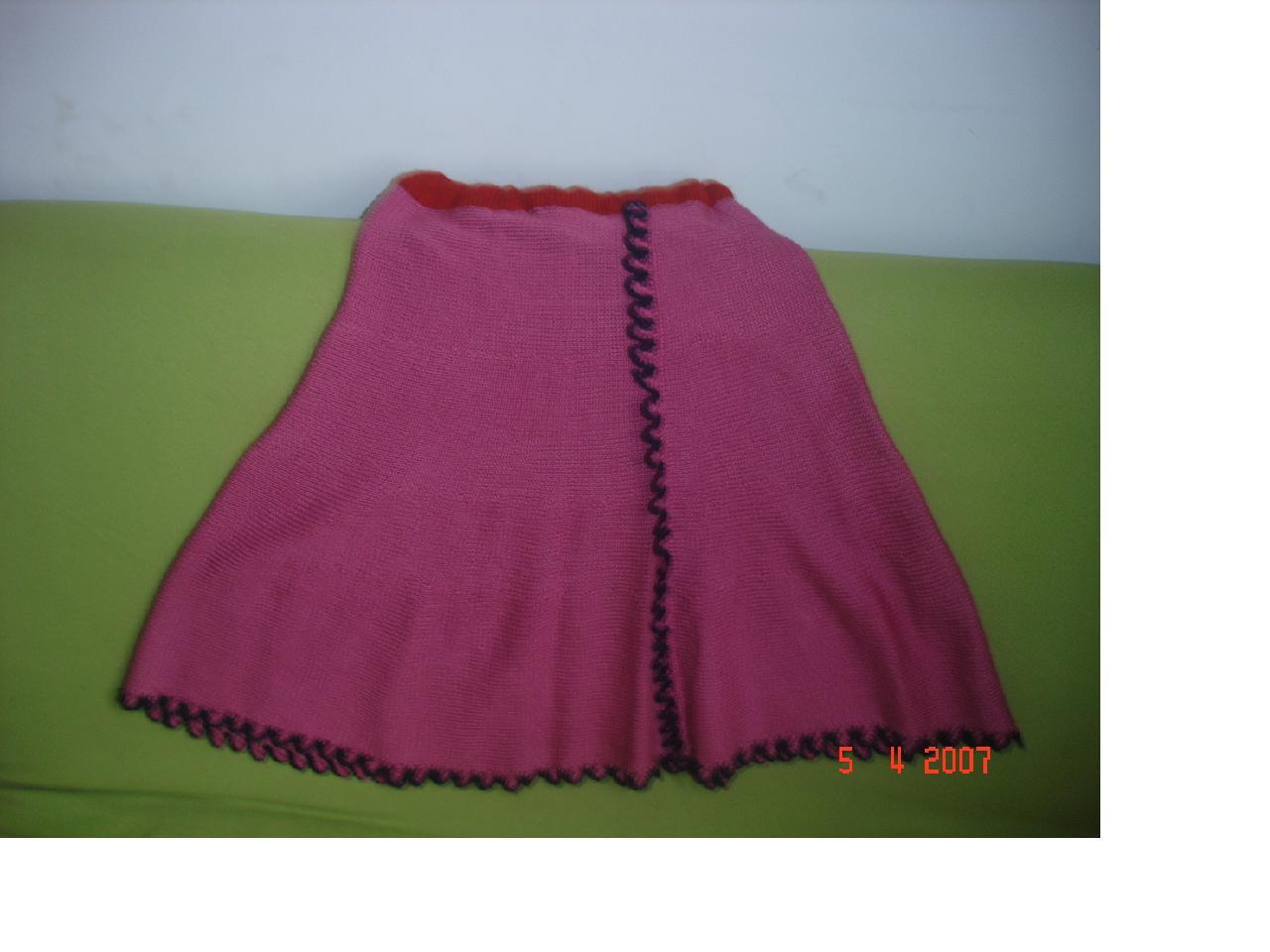 我的原创裙子横着织的
