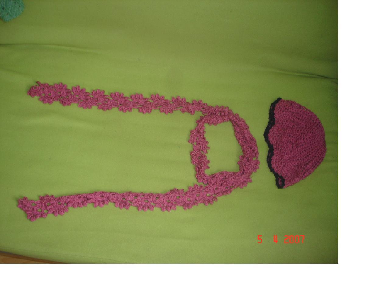 菠萝花样帽和坛子里学的围巾