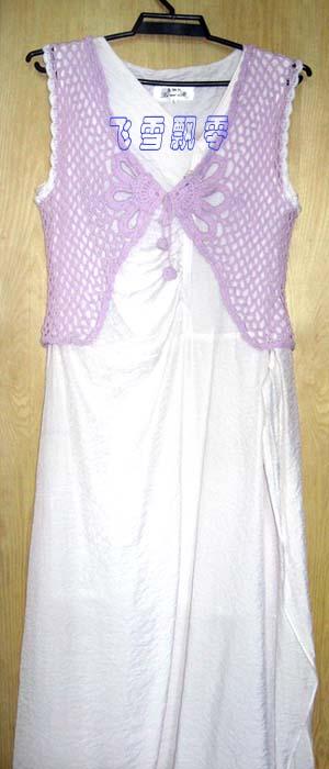 粉紫色短外褂2
