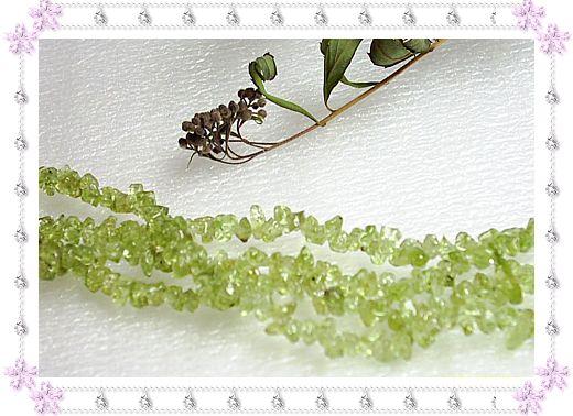 天然水晶橄榄石半成品(长度约2尺5寸)一根个穿制2条双层手链18.00元