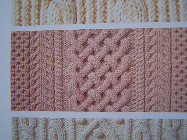 8针麻花针的织法图解-漂亮平针编织花样图解_毛衣三个