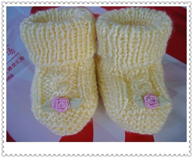 钩针编织宝宝鞋图解