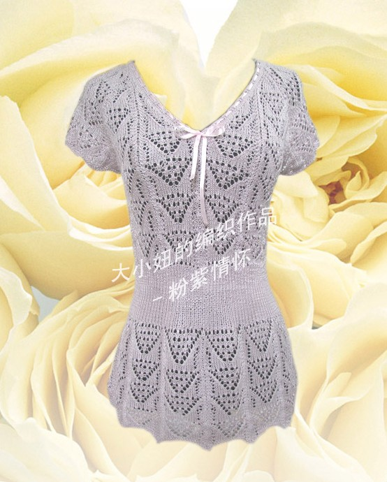 玫瑰家的粉紫夹金丝棉线170克,12号针,六月女人花---粉紫情怀