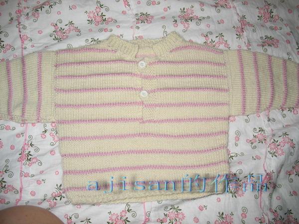 我第一件棒针织的,给十月份出生的我的宝宝