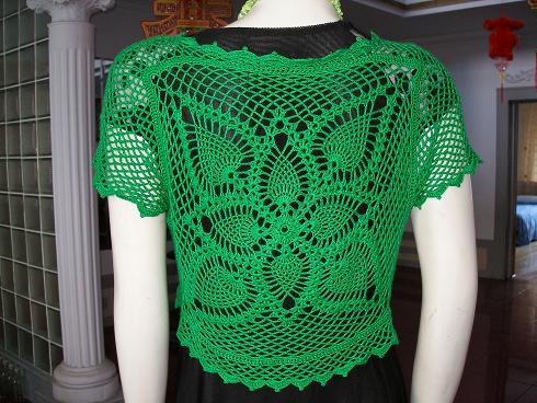 69 钩针编织作品区 69 钩针编织作品秀 69 绿色小外套(有图解)