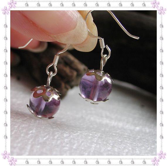 925银耳钩+天然紫水晶10.00元