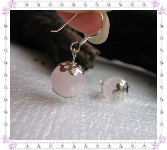 925银耳钩+天然粉水晶10.00元