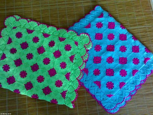 (续)自己编织的枕套的图解!
