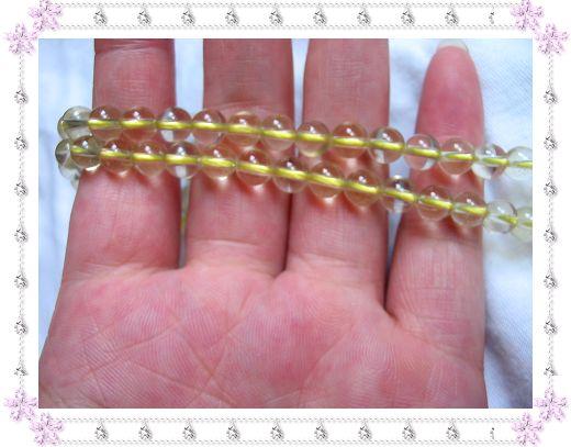 6-6.5MM天然黄水晶(长度约39CM)半成品,售价39.00元(限整条购买)一条约62-64粒,可做一条项链或2条手链
