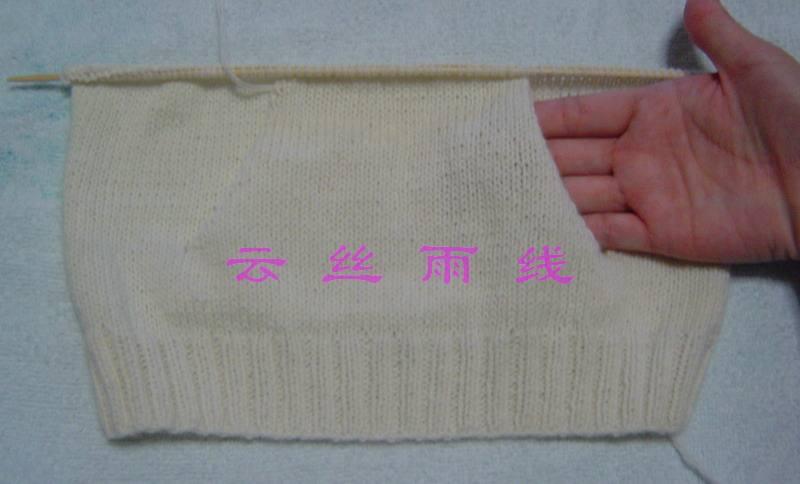 2。继续向上织身子部分。