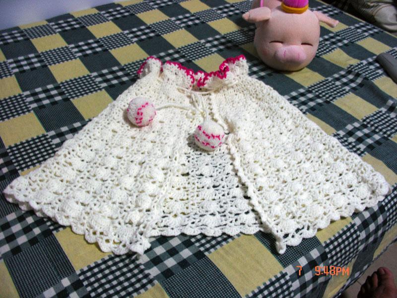 专题 披肩 惊鸿       惊鸿落霞 版块:[儿童毛衣(钩针)]宝宝的披肩
