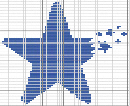 五角星编织图解及针数