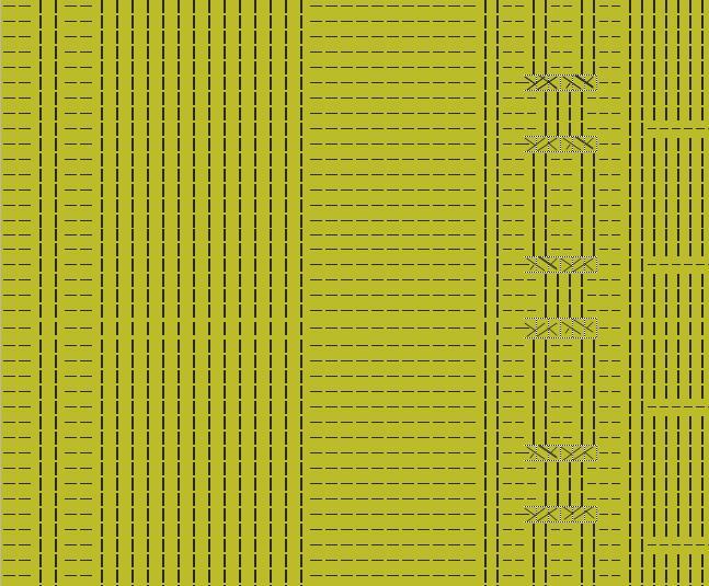1、从左至右排列毛衣图,将1—6拼接即可。