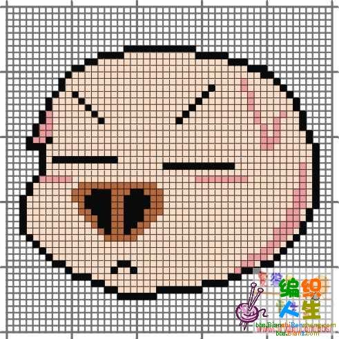 猪宝宝的编织图案_十字绣图案大全_编织人生论坛