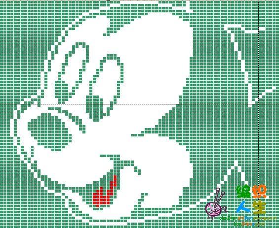 儿子的毛衣(米老鼠图案哦),图解来啦!