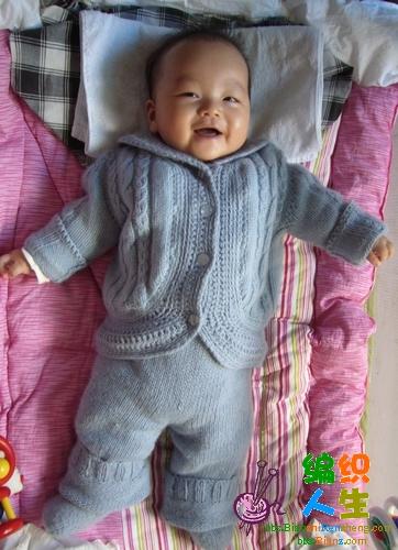 宝宝整套蓝毛衣