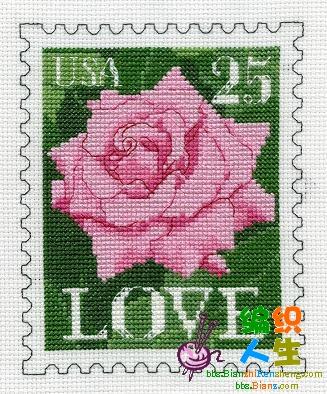 一套玫瑰邮票