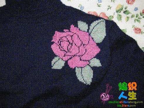 75针玫瑰花的钩法图解