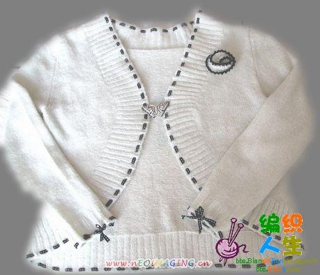 这是流行家马毛织的圆摆小开衫