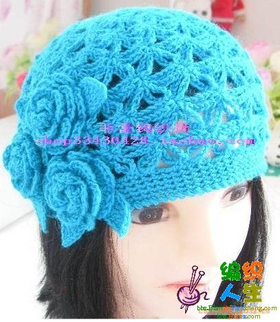帽子上的装饰花怎么钩法图解