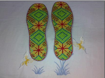 绣鞋子的步骤图片