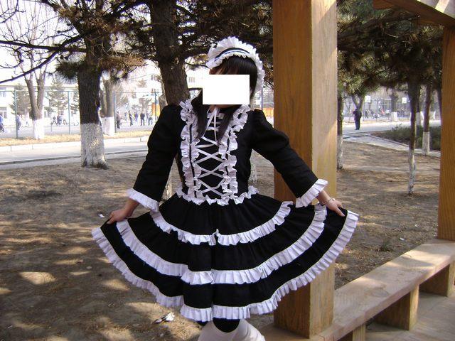 第一次做的洛丽塔裙子_服装设计与裁剪_编织人生论坛