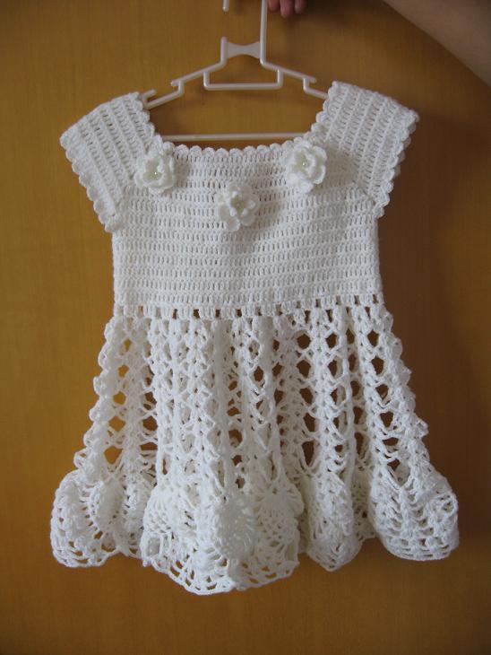 我的第一件钩针作品漂亮的公主裙