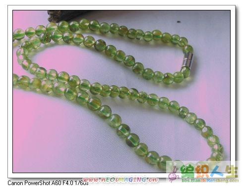 天然橄榄石约4MM圆珠相链(缺货)