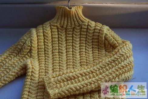 我的黄色麻花毛衣 (1).JPG
