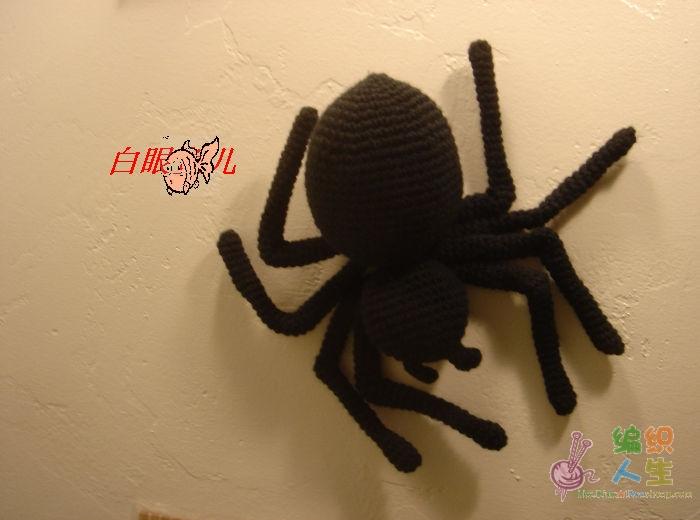 万圣节DIY饰品装饰之大蜘蛛钩法介绍