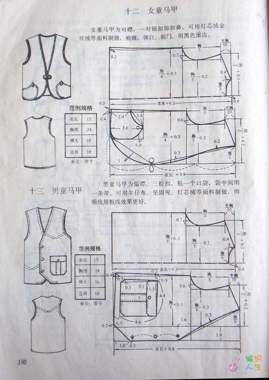 论坛 69 手工diy俱乐部 69 服装设计与裁剪 69 求儿童马夹裁剪