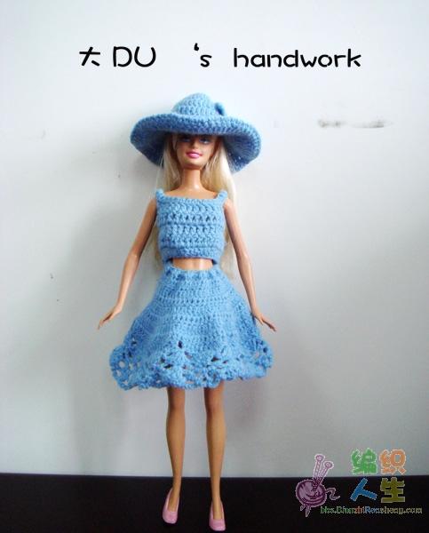 终于折腾出芭比娃娃的小衣服了(附图解)