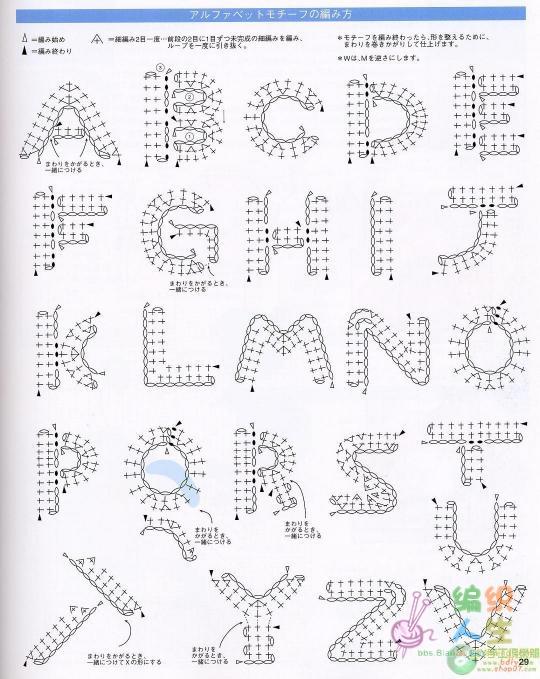 钩出来的26个英文字母