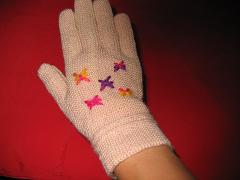 手套成品图的手背