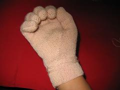手套成品图的手指尖