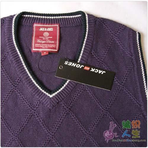 求这件背心上花纹的编织方法