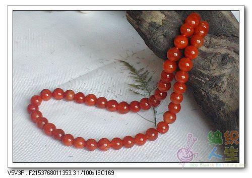 东海天然红水晶项链245.00元