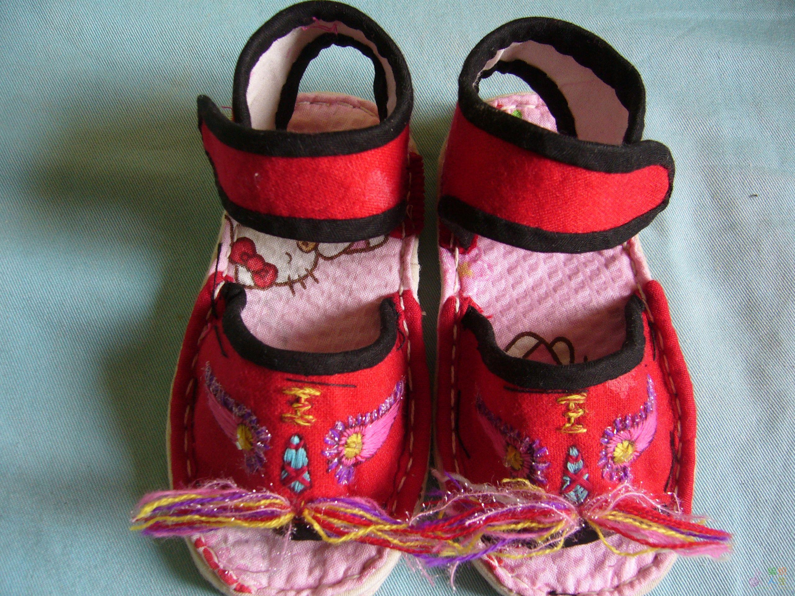 小孩虎头鞋样的画法-小孩手工老虎头鞋图片-婴儿鞋样