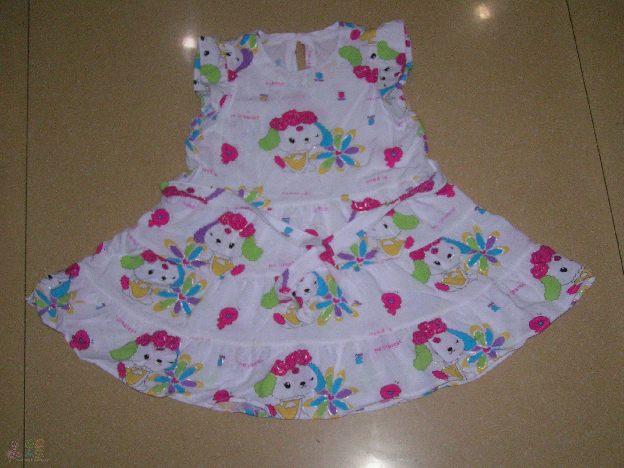 手工diy俱乐部 69 服装设计与裁剪 69 给宝宝做了六条棉绸花裙子