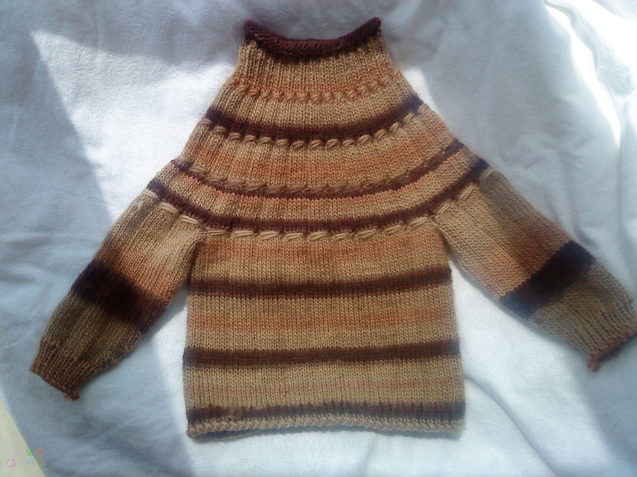 儿童毛衣编织过程