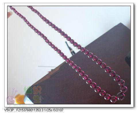 精美玫红体塔型项链(待补)