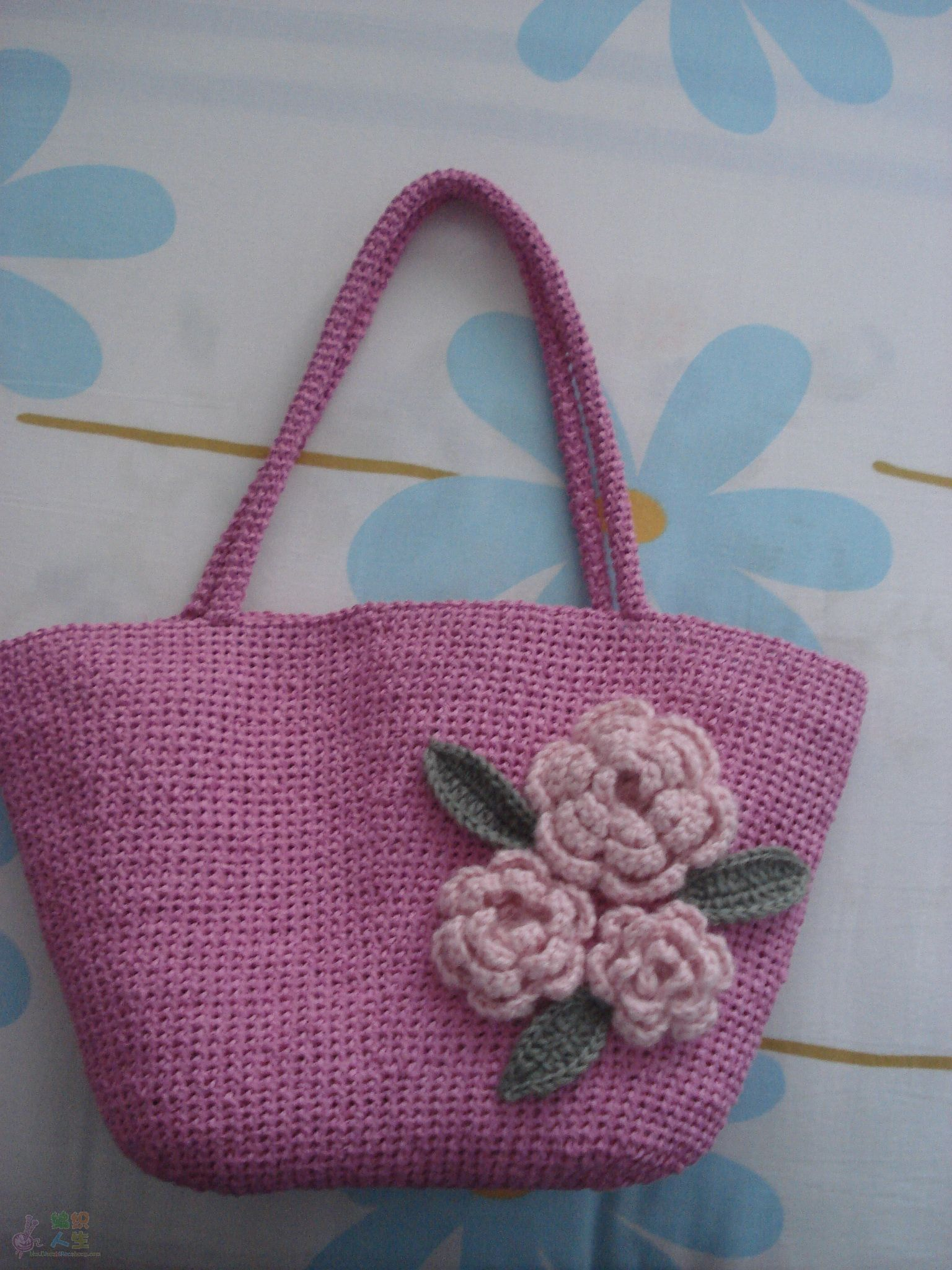 纸绳编织花朵图解