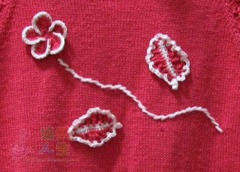 完美树叶花编织图案