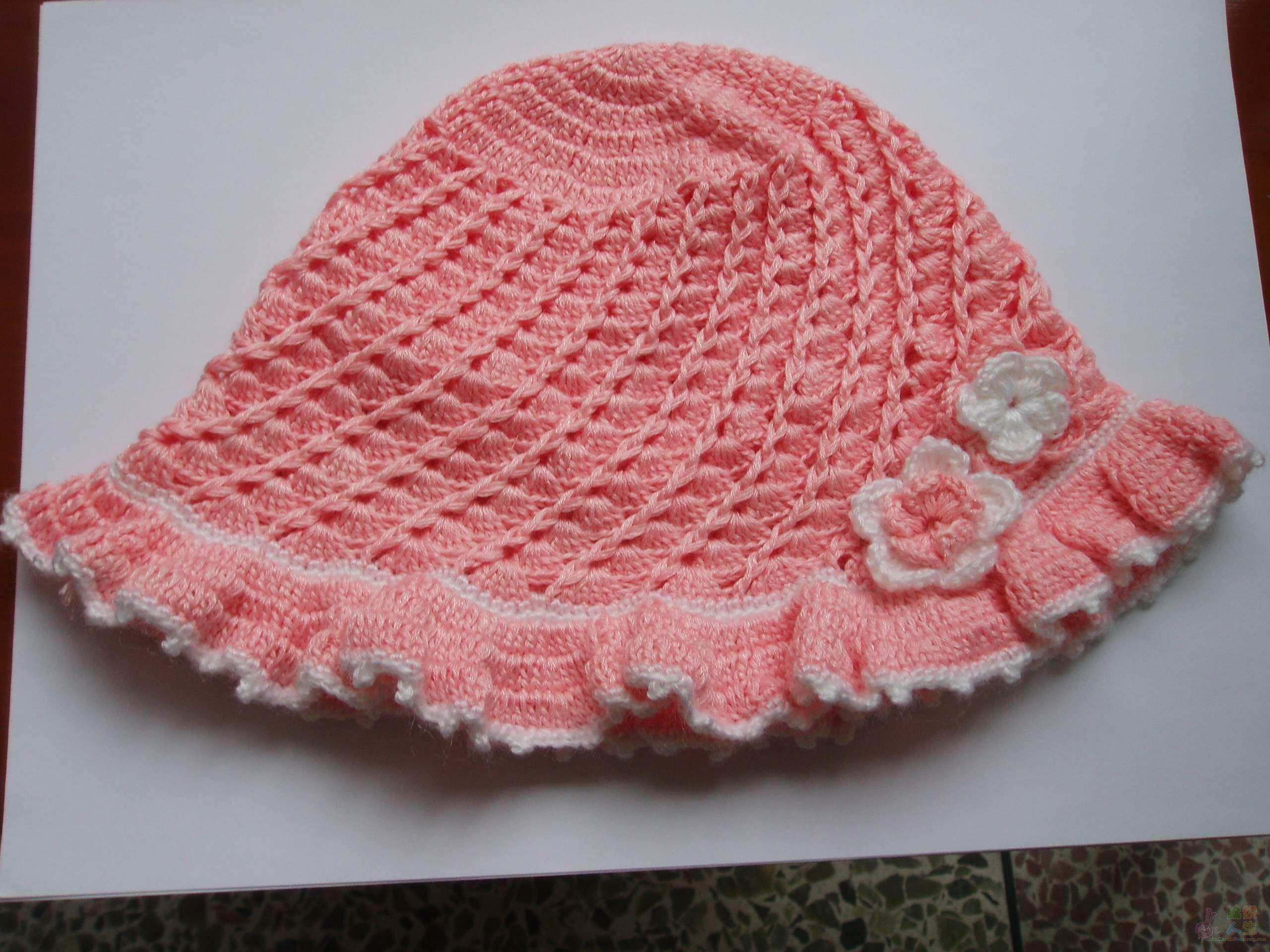 儿童服饰编织交流 69 儿童毛衣(钩针) 69 儿童帽子  钩的帽子可爱
