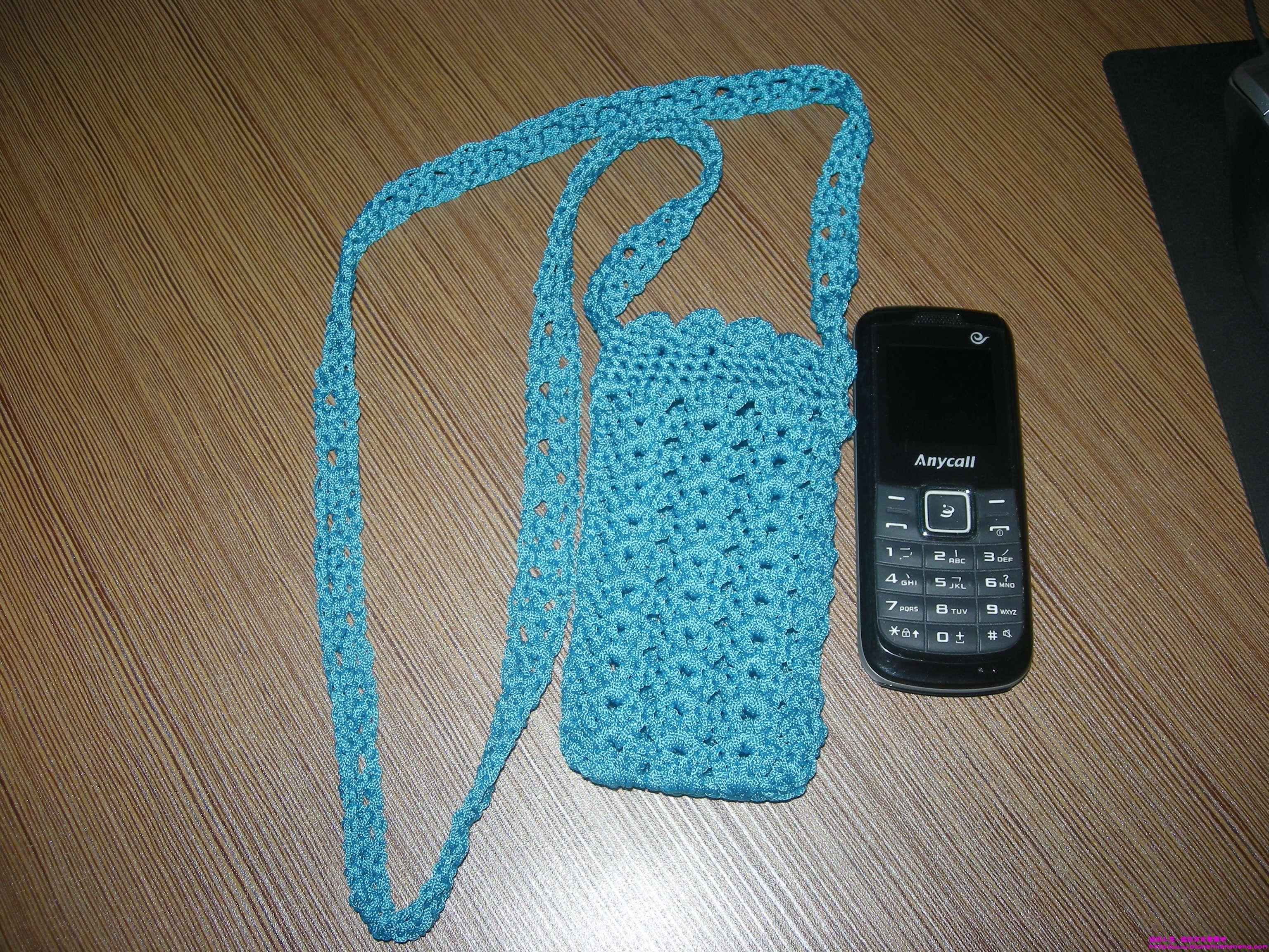 手机套的钩法_我钩的手机套_编织人生论坛