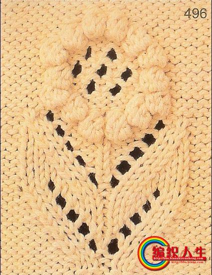 69 棒针编织作品区 69 棒针编织作品秀 69 漂亮的灰毛衣,带花朵