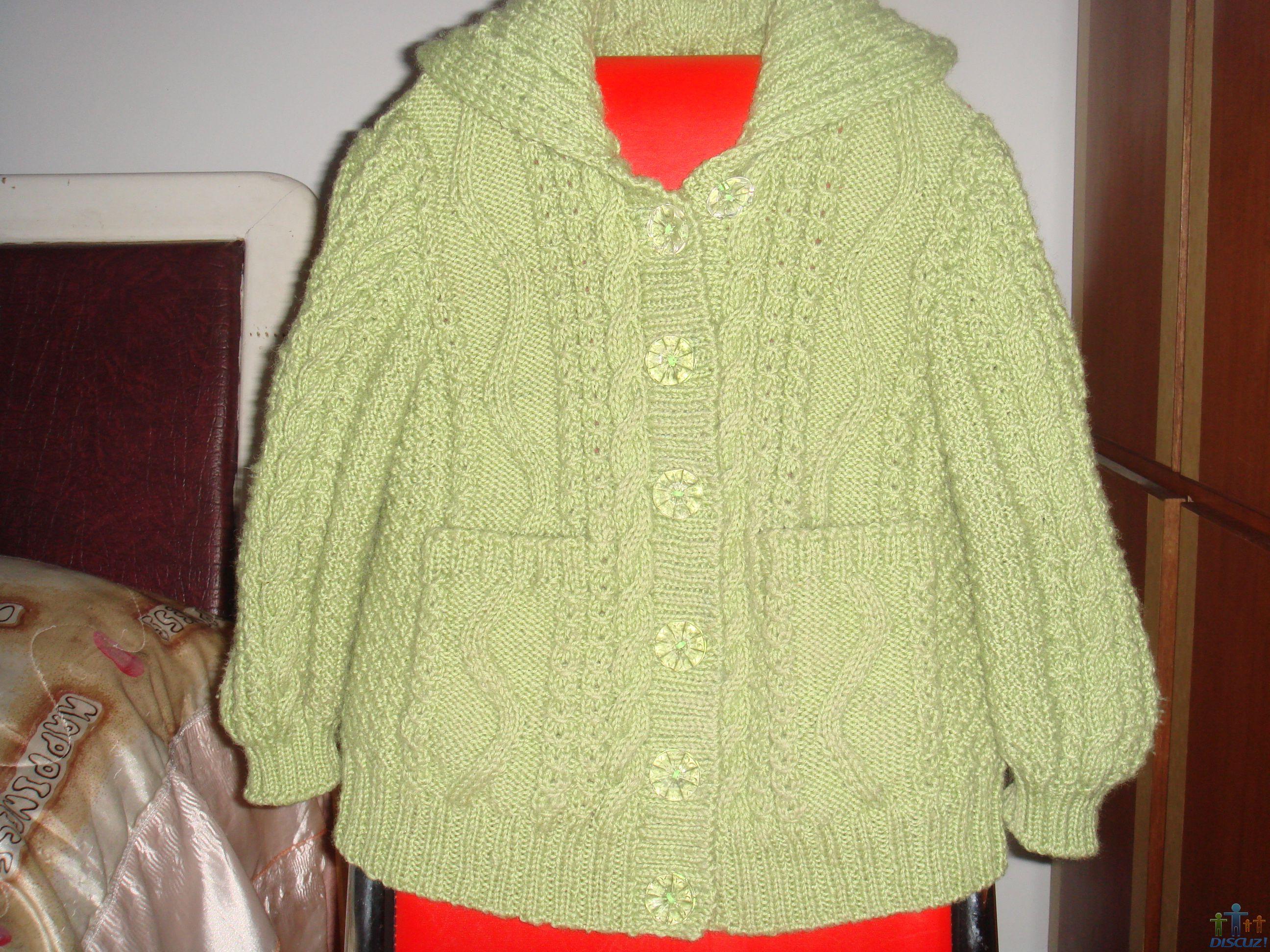 少女开衫毛衣款式及图片_儿童毛衣带帽开衫 - 编织人生